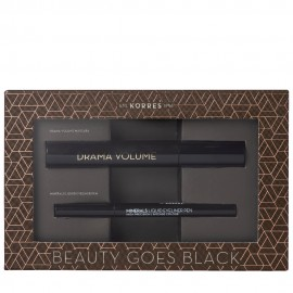 Korres Beauty Goes Black Drama Volume Mascara 01 Black 11 ml & Minerals Liquid Eyeliner Pen 01 Black 1ml