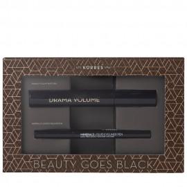 Korres Beauty Goes Black Drama Volume Mascara 01 Black 11 ml & Minerals Liquid Eyeliner Pen 01 Black 1ml