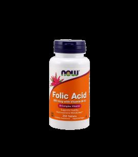 Now Folic Acid 800mcg + B12 25mcg 250 ταμπλέτες