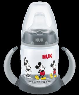 Nuk First Choice Disney Ποτήρι με Λαβές 6-18m με Ρύγχος Σιλικόνης Μickey-Γκρι (10.743.829) 150ml