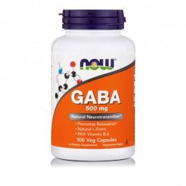 Now GABA 500mg + B6 100 vcaps