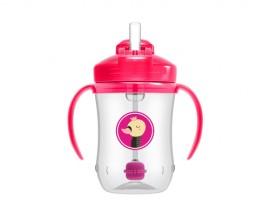 Dr. Browns Babys First Straw Cup 91011 Κύπελλο με καλαμάκι & λαβές 6m+  Ροζ χρώμα 270ml