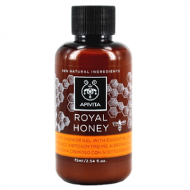 Apivita Royal Honey Mini Κρεμώδες Αφρόλουτρο με Αιθέρια Έλαια 75ml