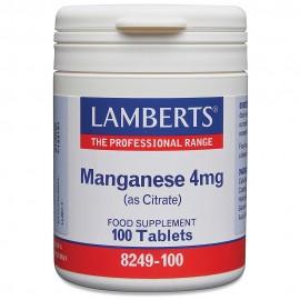Lamberts Manganese 4mg (as Citrate) 100tablets