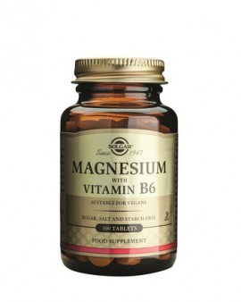 Solgar Magnesium + B6 100 tabs