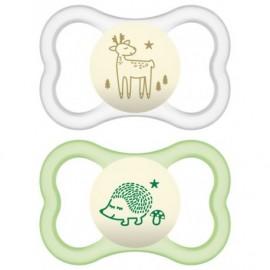 Mam Air Night Animal Green-Transperant 6-16m 2τμχ