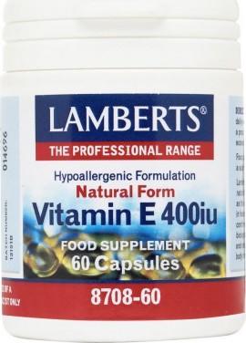 Lamberts Vitamin E 400iu 60 κάψουλες