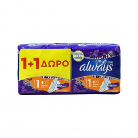 Always Platinum Ultra Normal Plus Size 1 (1+1) 16 τεμάχια