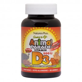 NaturesPlus Animal Parade Vitamin D3 90 μασώμενες ταμπλέτες
