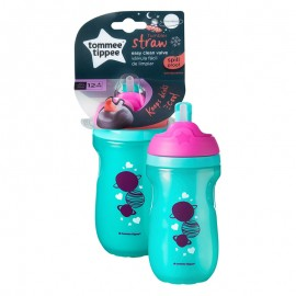 Tommee Tippee Straw Cup Insulated Straw Cup 12+ Months 260ml Green-Purple