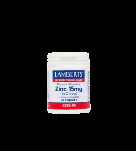 LAMBERTS Zinc 15mg 90ταμπλέτες
