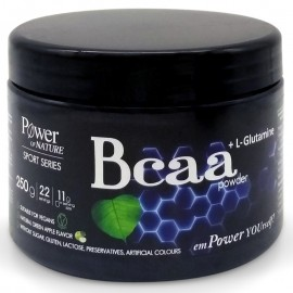 Power of Nature Bcaa powder + L-Glutamine 250gr Green Apple