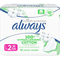 Always Cotton Protection No2  Long Σερβιέτες 10τμχ