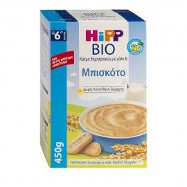 HIPP Bio Κρέμα δημητριακών με γάλα & Μπισκότο από τον 6ο μήνα 450g
