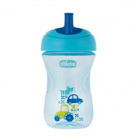Chicco Advanced Cup Easy Drinking 12m+ 2 in 1 Μπλε 266ml