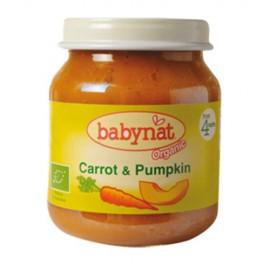 BABYNAT Κρέμα Λαχανικών Καρότο & Κολοκύθα +4μ (130γρ)