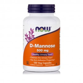 Now D-Mannose 500mg 120Veg Capsules