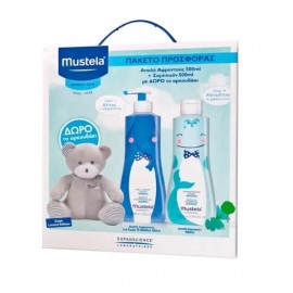 MUSTELA Limited Edition Box Cleansing Gel 500ml & Gentle Shampoo 500ml με Δώρο Αρκουδάκι