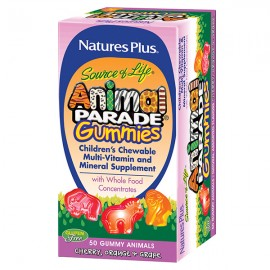 NaturesPlus Animal Parade Gummies Assorted Flavors 50 Μασώμενα Ζελεδάκια