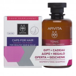 Apivita Promo Caps for Hair 30caps & ΔΩΡΟ Womens Tonic Shampoo 250ml