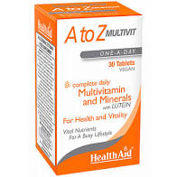 Health Aid A to Z Multivitamin & Minerals 30 tablets