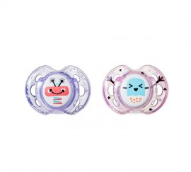 Tommee Tippee Fun Style Πιπίλα Σιλικόνης 0-6 Μηνών Ροζ-Μωβ 2τεμ. Prod.Ref.43335785