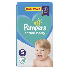 Pampers Active Baby Maxi Pack No.5 (11-16kg) 51τμχ