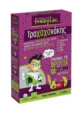 Frezyderm Frezylac Τραχαχανάκης Τραχανάς με Βιολογικά Φρούτα 6m+ 2x165gr