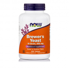 Now Brewers Yeast  650mg  200 ταμπλέτες