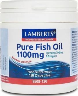 Lamberts Pure Fish Oil 1100mg 120 κάψουλες