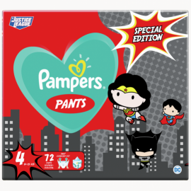 Pampers Pants WB Special Edition Justice League Πάνες Νο 4 (9-15kg) 72τμχ