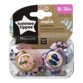 Tommee Tippee Moda Πιπίλα Σιλικόνης 18-36 Μηνών Ροζ Prod.Ref.43343741