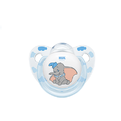 Nuk Disney Classics Dumbo Γαλάζιο Πιπίλα Σιλικόνης 6-18 μηνών, 1τεμ