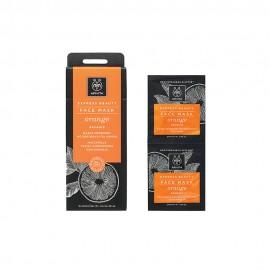 Apivita Express Μάσκα Αναζωογόνησης με Πορτοκάλι 2x8ml