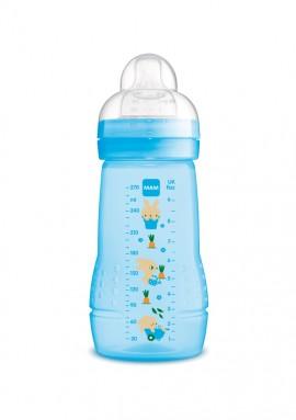 Mam Easy Active Baby Bottle Πλαστικό Μπιμπερό, Θηλή Σιλικόνης 2m+ Blue 270ml