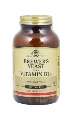Solgar Brewer's Yeast with Vitamin B-12 250 Tablets