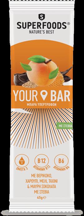 Superfoods Your Bar με Γεύση Βερίκοκο 45gr