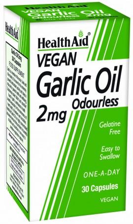 Health Aid Garlic Oil 2mg Odourless Vegetarian 30Caps