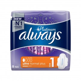 Always Platinum Ultra Normal Plus Size 1 8τεμάχια