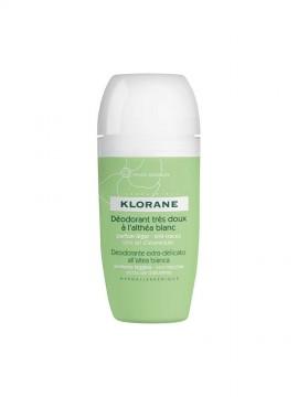 Klorane Deodorant Αποσμητικό Με Λευκή Αλθέα Roll-on 40 ml