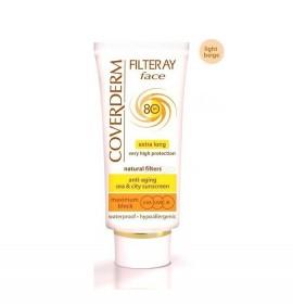 Coverderm Filteray Tinted Light Beige Face Cream SPF80 50ml