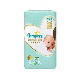 Pampers Premium Care Newborn Value Pack Νo 1 (2-5kg) 52πάνες