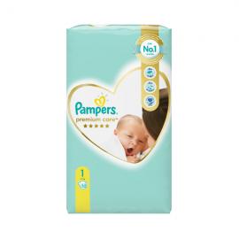 Pampers Premium Care Newborn Value Pack Νo 1 (2-5kg) 52πάνες