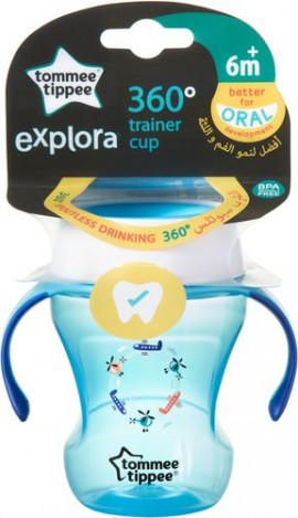 Tommee Tippee Explora 360° Trainer Cup 6m+ Μπλε