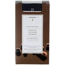 Korres Βαφή Argan Oil Advanced Colorant 2.1 Μαύρο Μπλε