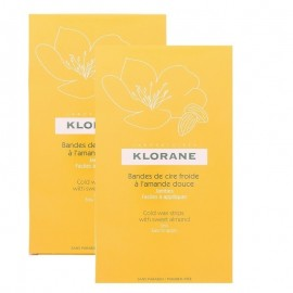 Klorane Soothing Hair Removal Promo Cold Wax Strips  2 x 6