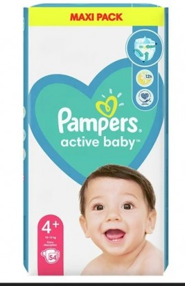 Pampers Active Baby Maxi Pack No.4+ (10-15Kg) 54τμχ