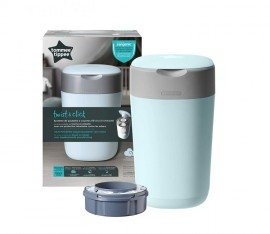 Tommee Tippee Twist and Click Κάδος Απόρριψης Πάνας ΓΑΛΑΖΙΟ