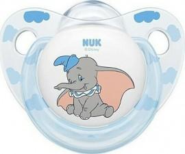 Nuk Disney Classics Dumbo Γαλάζιο-Διάφανο Πιπίλα Σιλικόνης 0-6 μηνών, 1τεμ