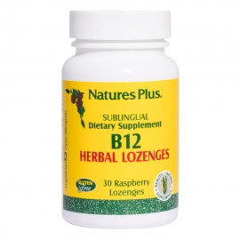 NaturesPlus B-12 1000mcg 30 Rasberry Lozenges